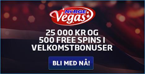 NorgeVegas Casino | 500 free spins and 25,000 kr free bonus | review