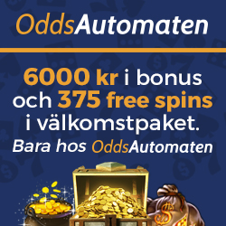 OddsAutomaten Casino - 125 free spins on video slots - no deposit bonus