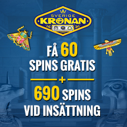 SverigeKronan Casino | 750 free spins and 7500 kr free bonus | review